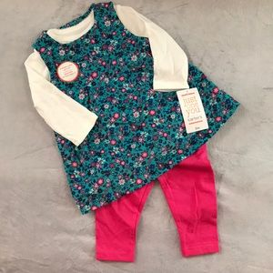 Carter's Corduroy Dress with Leggings, 3 month